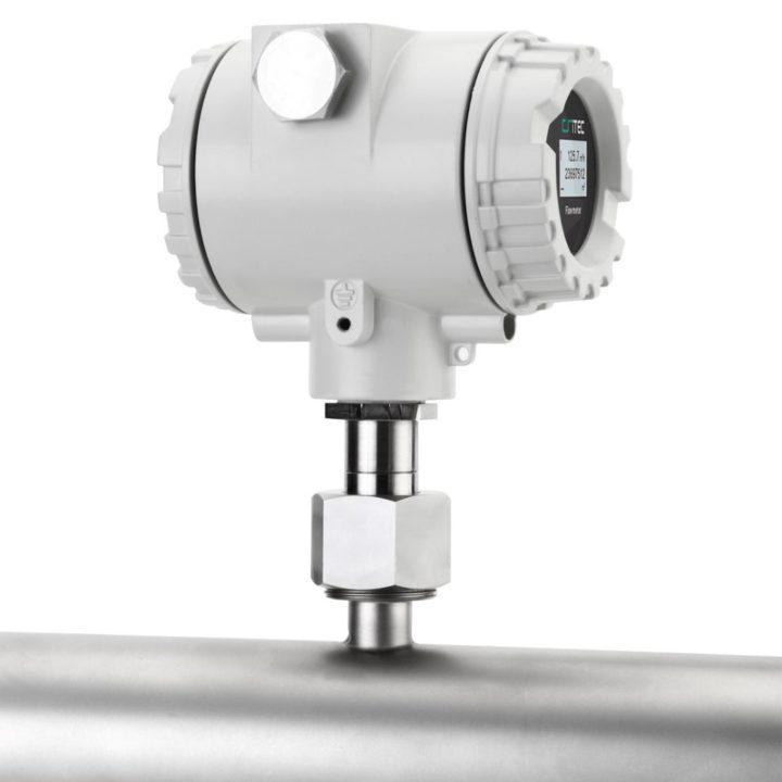 ipari áramlásmérő kijelző oldalról