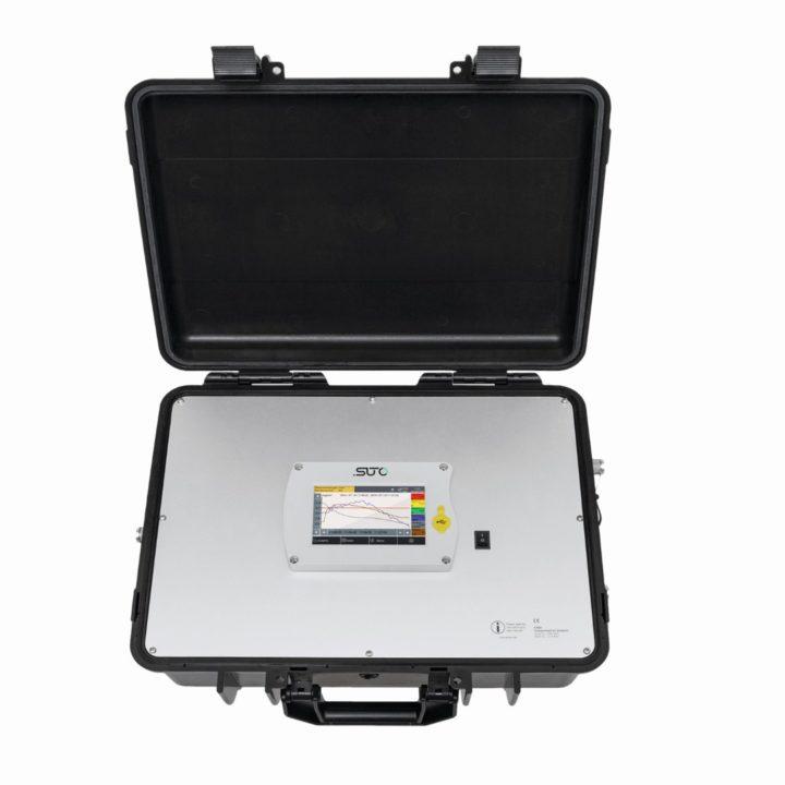 sűrített levegő iso8573 analizátor bőrönd nyitva